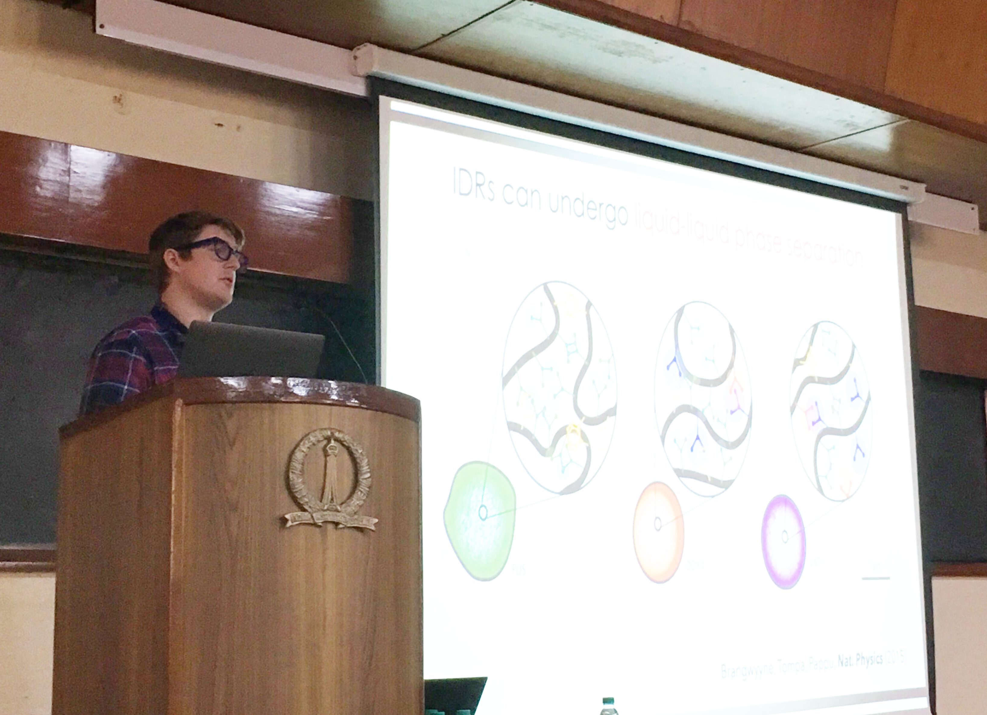 Alex's talk at the EMBO Workshop in Bangalore